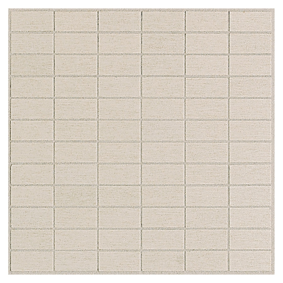 American Olean St Germain 11-Pack Creme Brick Mosaic Thru Body Porcelain Floor and Wall Tile (Common: 12-in x 12-in; Actual: 11.5-in x 11.5-in)