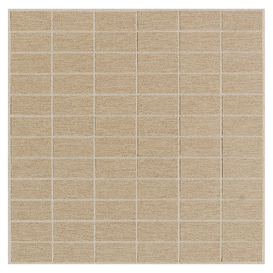 American Olean St Germain 11-Pack Chenile Brick Mosaic Thru Body Porcelain Floor and Wall Tile (Common: 12-in x 12-in; Actual: 11.5-in x 11.5-in)