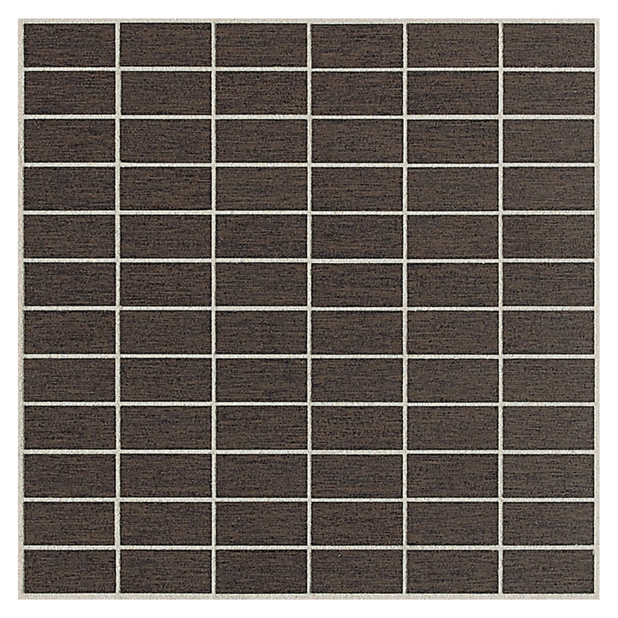 American Olean St Germain 11-Pack Chocolat Brick Mosaic Thru Body Porcelain Floor and Wall Tile (Common: 12-in x 12-in; Actual: 11.5-in x 11.5-in)