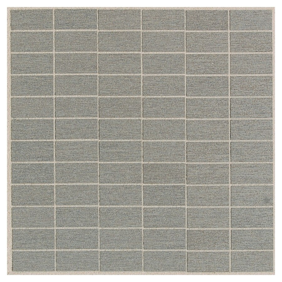 American Olean St Germain 11-Pack Gris Brick Mosaic Thru Body Porcelain Floor and Wall Tile (Common: 12-in x 12-in; Actual: 11.5-in x 11.5-in)