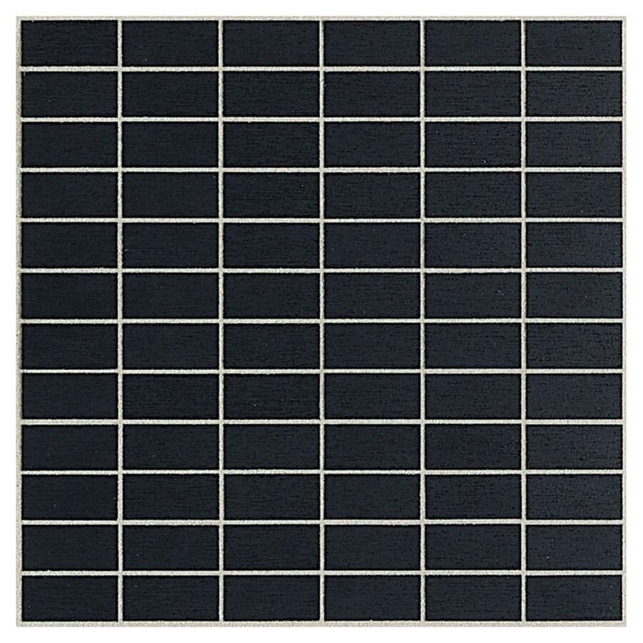 American Olean St Germain 11-Pack Noir Brick Mosaic Thru Body Porcelain Floor and Wall Tile (Common: 12-in x 12-in; Actual: 11.5-in x 11.5-in)