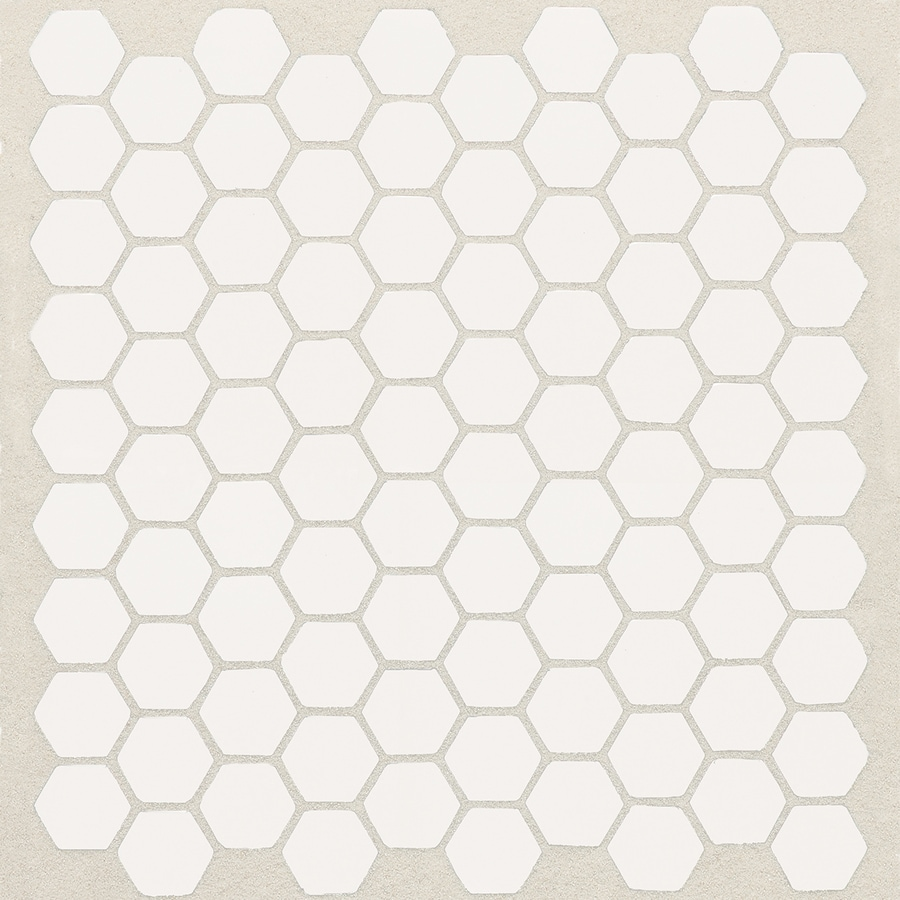 Shop American Olean Satinglo Hex Pack Ice White Honeycomb Mosaic - 10 inch hexagon tile