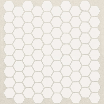 American Olean Satinglo Hex 10 Pack Ice White 10 In X 12 In