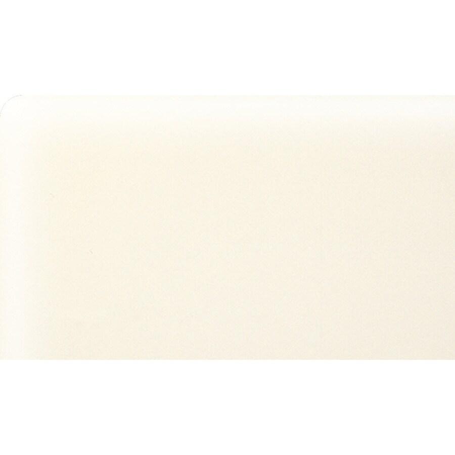 American Olean Bright Biscuit Ceramic Bullnose Corner Tile (Common: 3-in x 6-in; Actual: 3-in x 6-in)