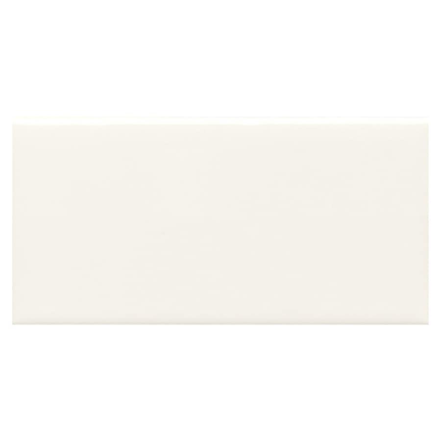 American Olean Bright Ice White Ceramic Bullnose Tile (Common: 3-in x 6-in; Actual: 3-in x 6-in)