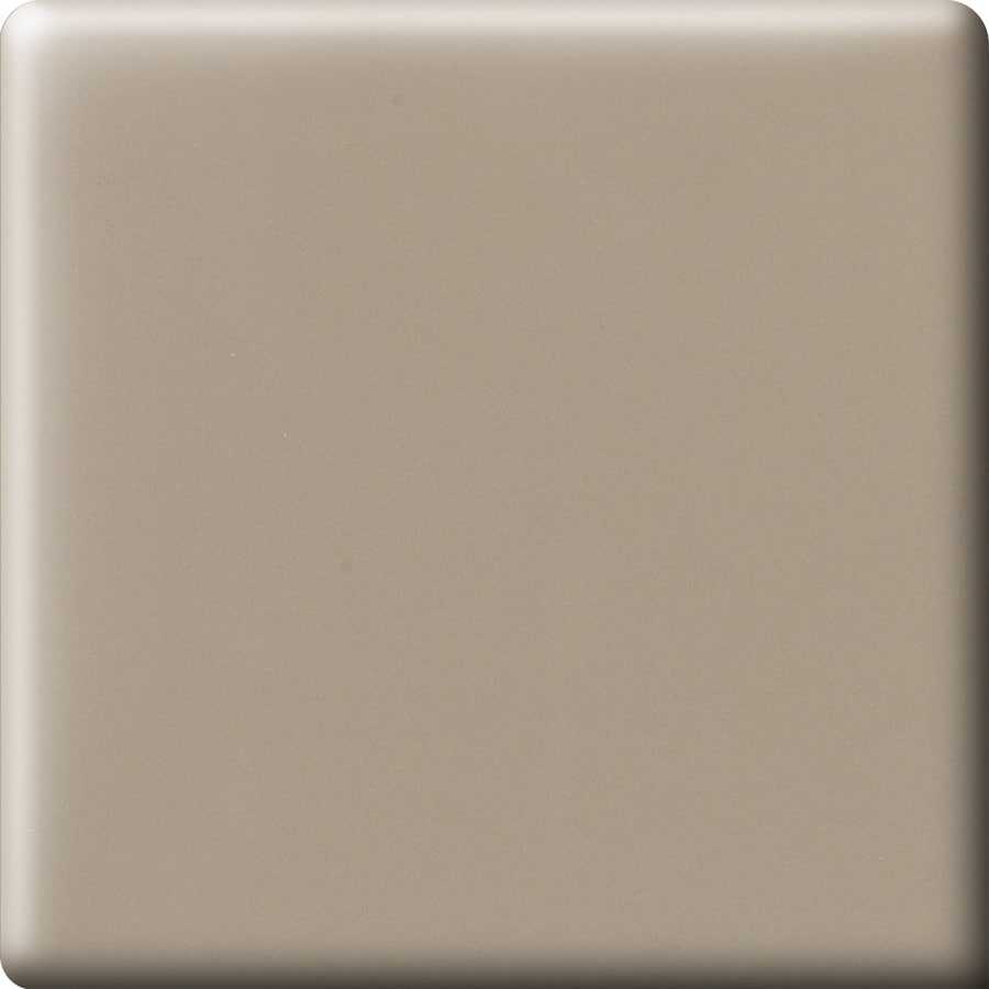 American Olean Bright Mushroom Ceramic Bullnose Corner Tile (Common: 6-in x 6-in; Actual: 6-in x 6-in)