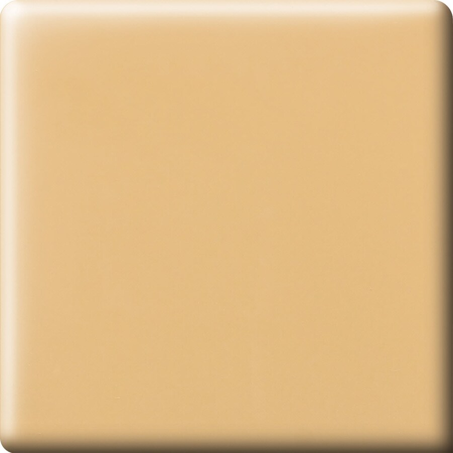 American Olean Bright Lemon Chiffon Ceramic Bullnose Corner Tile (Common: 6-in x 6-in; Actual: 6-in x 6-in)