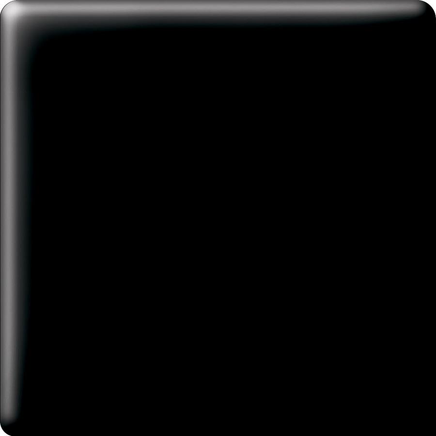 American Olean Matte Black Ceramic Bullnose Corner Tile (Common: 6-in x 6-in; Actual: 6-in x 6-in)