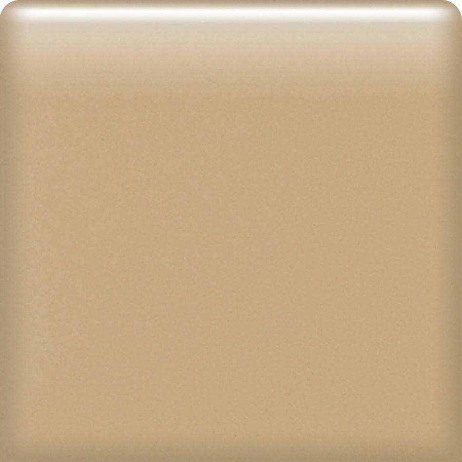 American Olean Matte Cappuccino Ceramic Bullnose Corner Tile (Common: 4-in x 4-in; Actual: 4.25-in x 4.25-in)