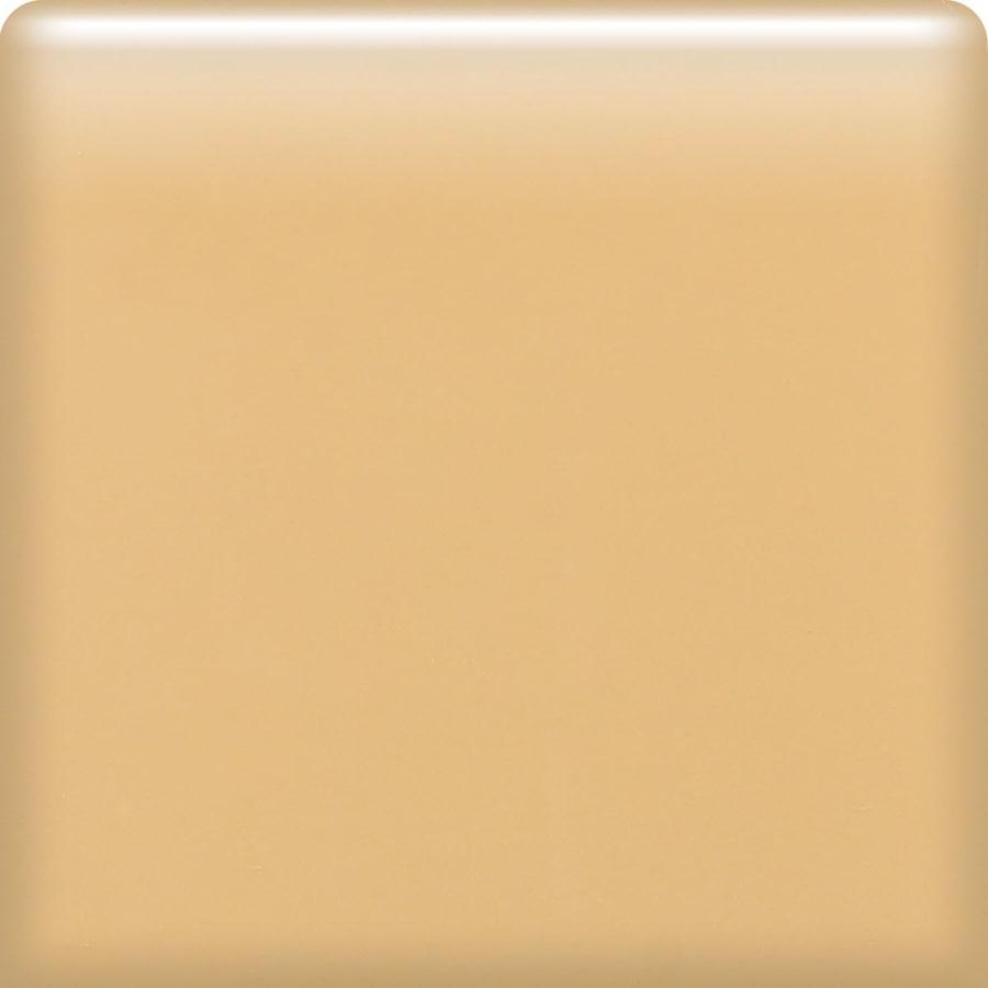 American Olean Bright Lemon Chiffon Ceramic Bullnose Corner Tile (Common: 4-in x 4-in; Actual: 4.25-in x 4.25-in)