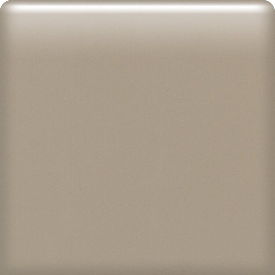 American Olean Matte Mushroom Ceramic Bullnose Corner Tile (Common: 4-in x 4-in; Actual: 4.25-in x 4.25-in)