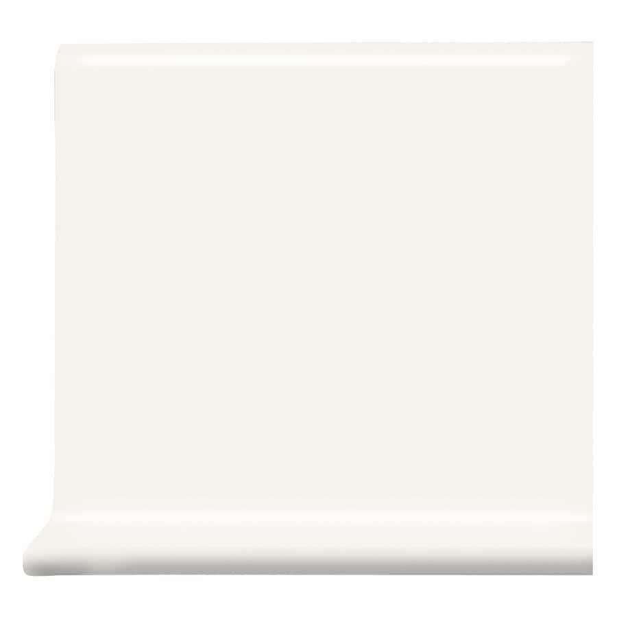 American Olean Bright White Gloss Ceramic Cove Base Tile (Common: 6-in x 6-in; Actual: 6-in x 6-in)