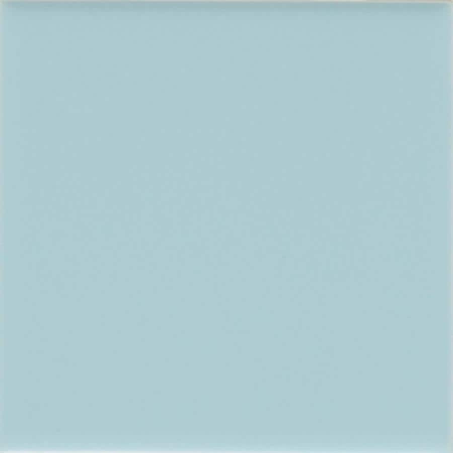 American Olean Bright 50-Pack Glacier Matte Ceramic Wall Tile (Common: 6-in x 6-in; Actual: 6-in x 6-in)
