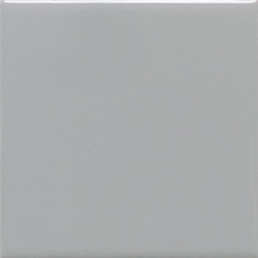 American Olean Bright 50-Pack Light Smoke Gloss Ceramic Wall Tile (Common: 6-in x 6-in; Actual: 6-in x 6-in)