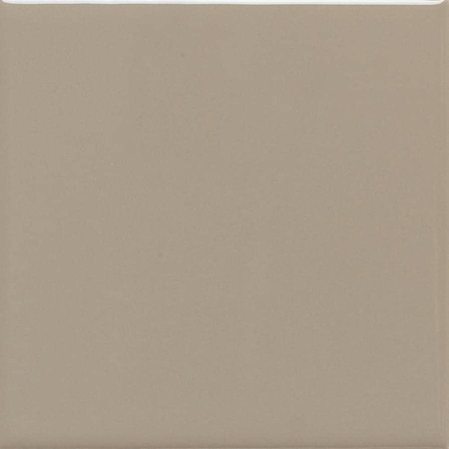 American Olean Matte 50-Pack Mushroom Matte Ceramic Wall Tile (Common: 6-in x 6-in; Actual: 6-in x 6-in)