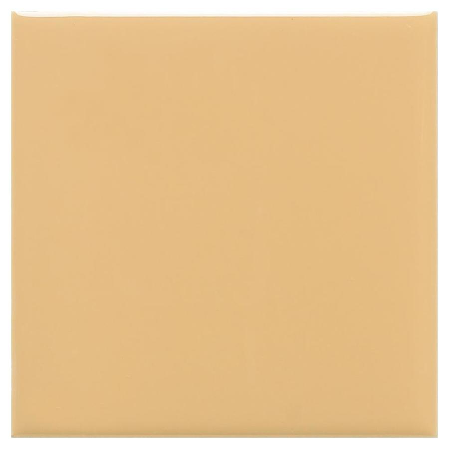 American Olean Bright 50-Pack Lemon Chiffon Gloss Ceramic Wall Tile (Common: 6-in x 6-in; Actual: 6-in x 6-in)