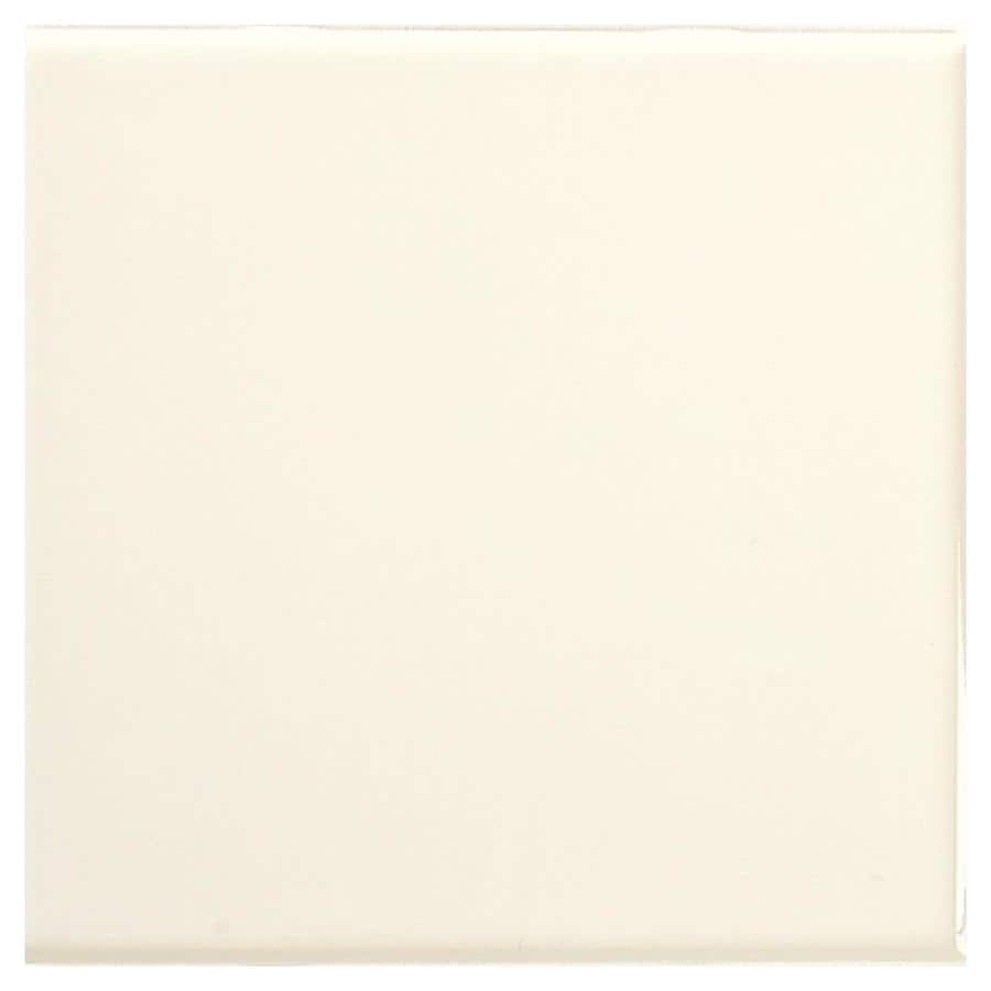 American Olean Bright 50-Pack Biscuit Gloss Ceramic Wall Tile (Common: 6-in x 6-in; Actual: 6-in x 6-in)