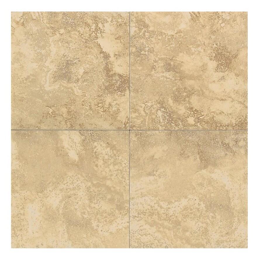 American Olean 6-in x 6-in Equinox Camel Glazed Porcelain Wall Tile