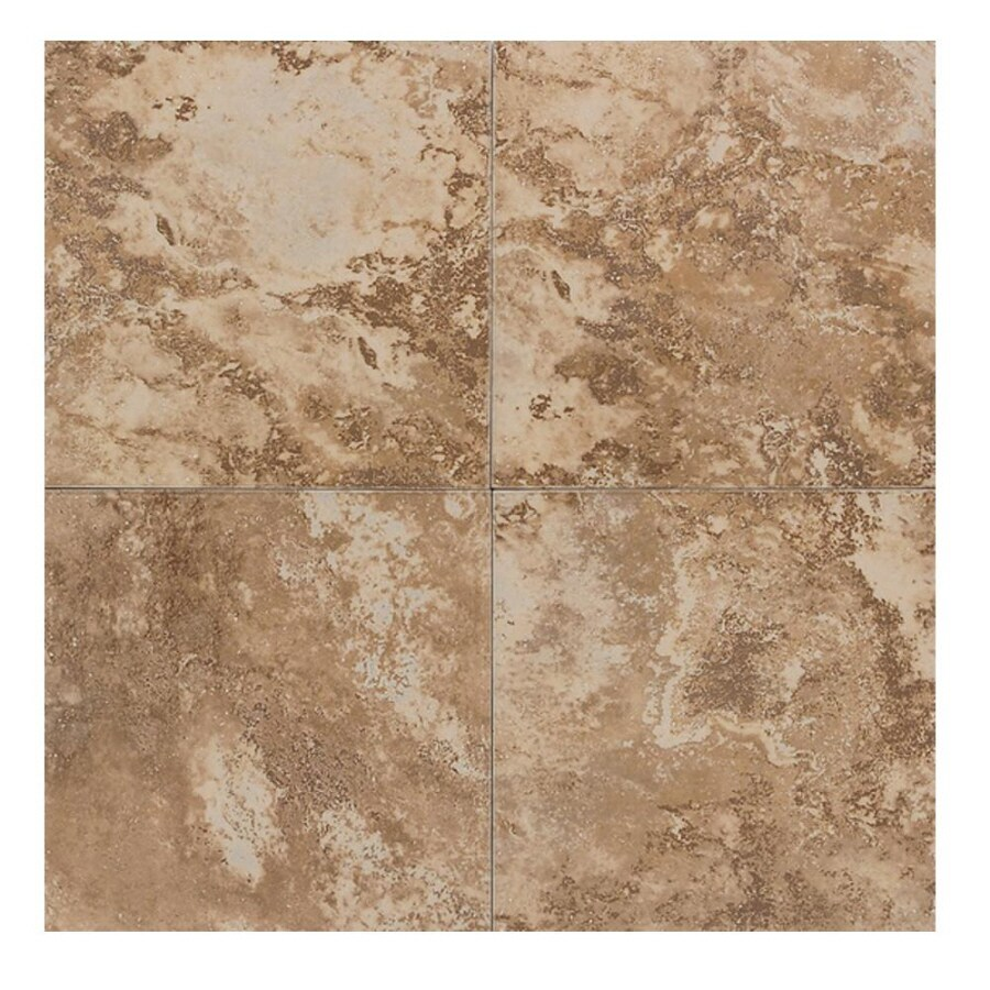 American Olean 6-in x 6-in Equinox Tawny Glazed Porcelain Wall Tile