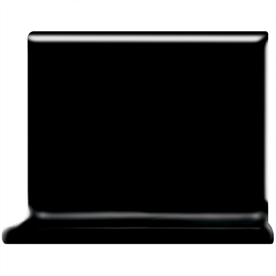 American Olean Matte Black Ceramic Cove Base Tile (Common: 4-in x 4-in; Actual: 4.25-in x 4.25-in)