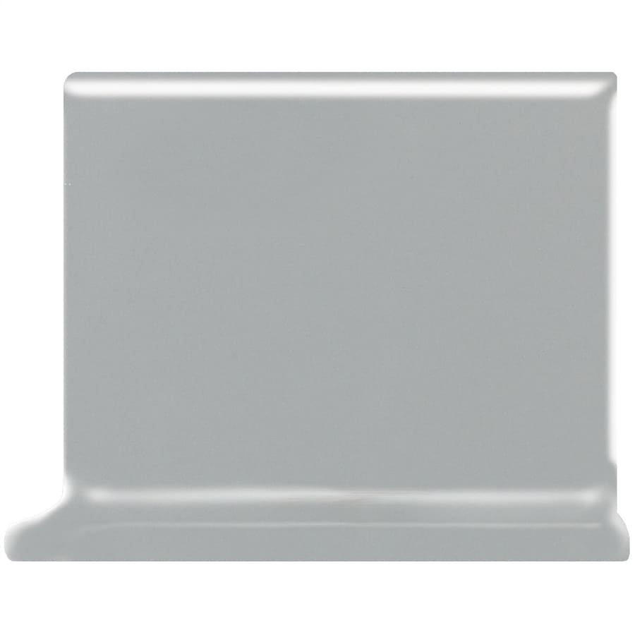 American Olean Matte Light Smoke Ceramic Cove Base Tile (Common: 4-in x 4-in; Actual: 4.25-in x 4.25-in)
