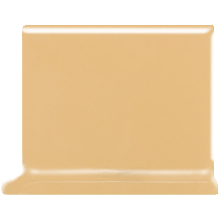 American Olean Bright Lemon Chiffon Ceramic Cove Base Tile (Common: 4-in x 4-in; Actual: 4.25-in x 4.25-in)