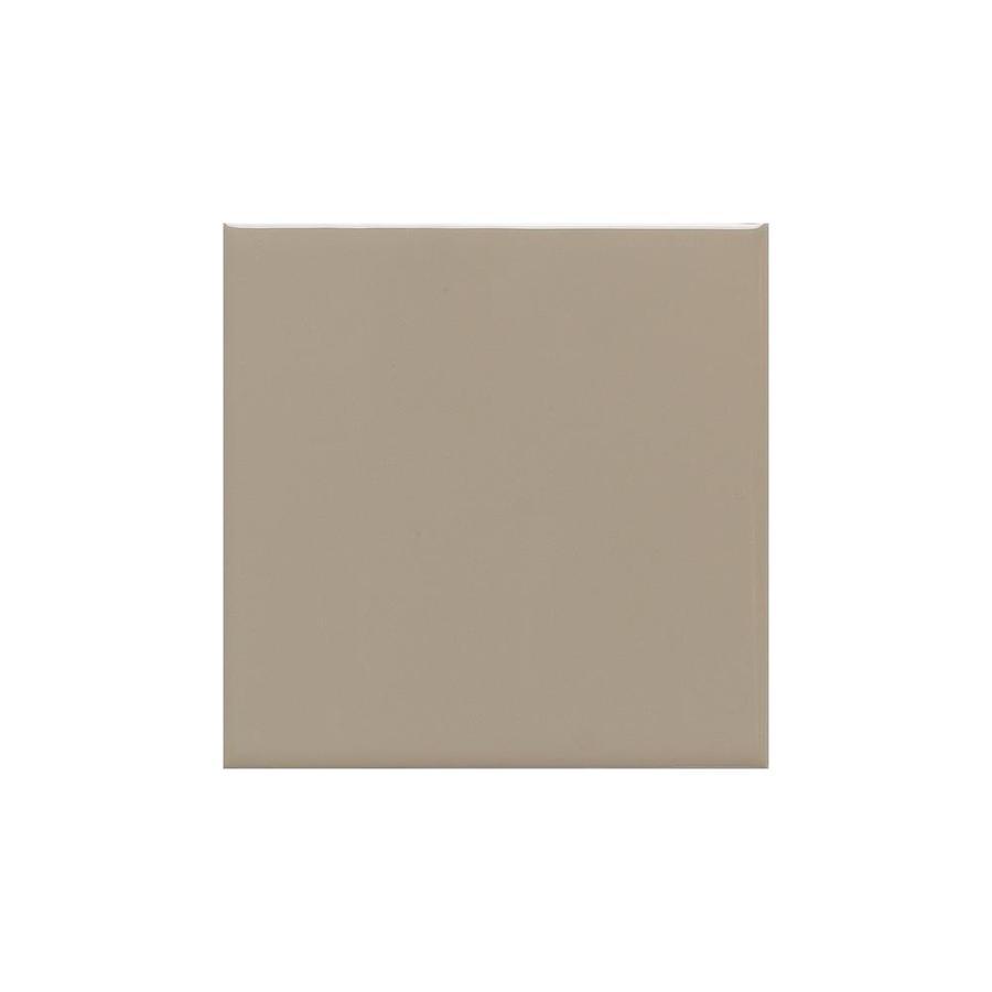 American Olean Bright Mushroom Gloss Ceramic Cove Base Tile (Common: 4-in x 4-in; Actual: 4.25-in x 4.25-in)
