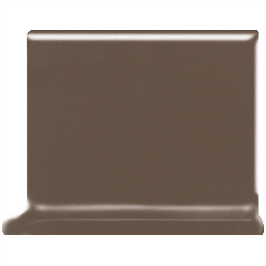 American Olean Matte Nutmeg Ceramic Cove Base Tile (Common: 4-in x 4-in; Actual: 4.25-in x 4.25-in)