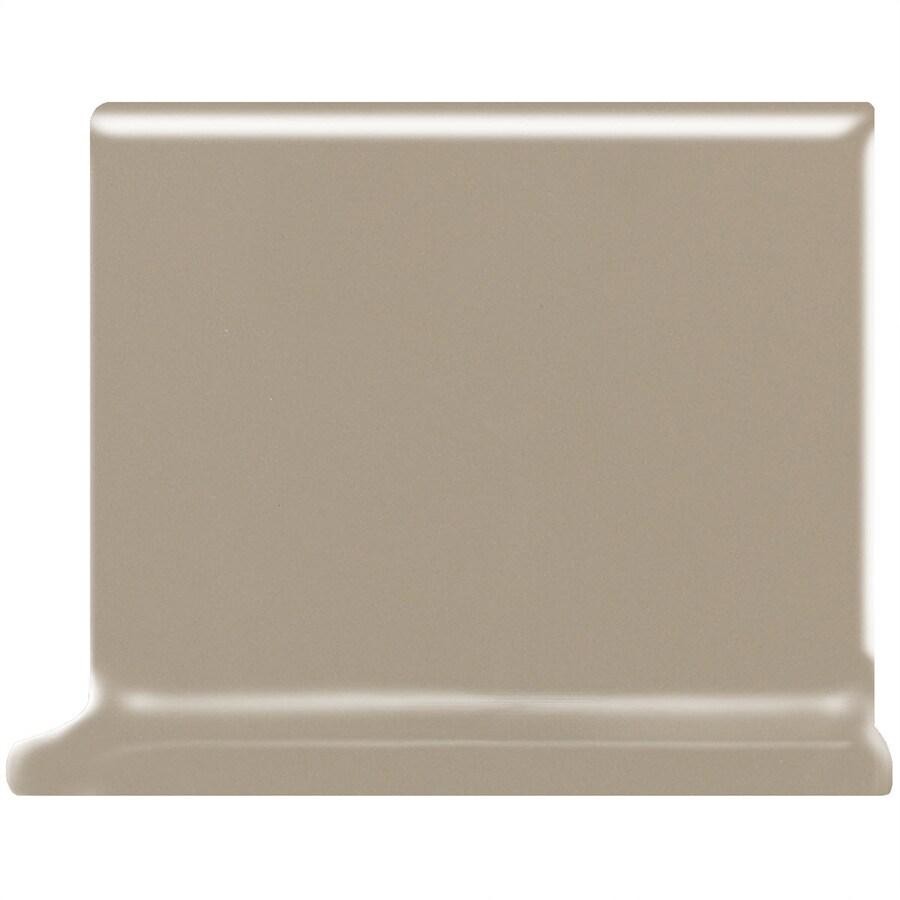 American Olean Matte Mushroom Ceramic Cove Base Tile (Common: 4-in x 4-in; Actual: 4.25-in x 4.25-in)