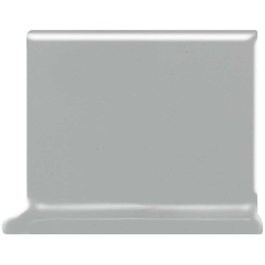 American Olean Bright Light Smoke Ceramic Cove Base Tile (Common: 4-in x 4-in; Actual: 4.25-in x 4.25-in)