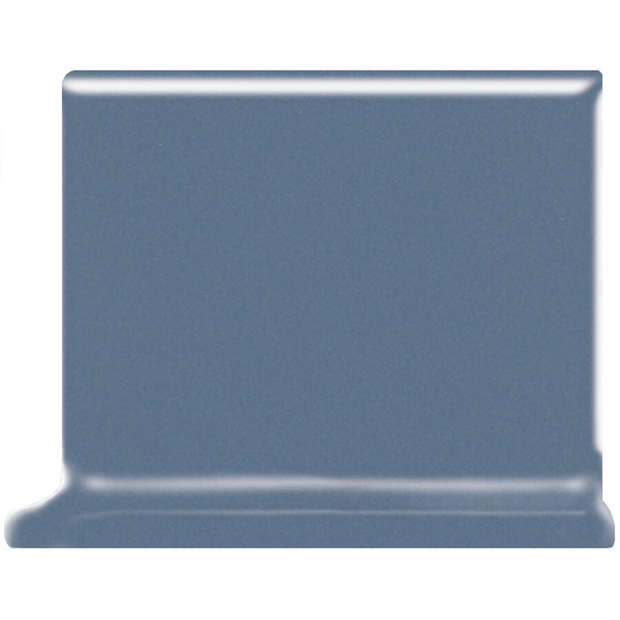 American Olean Bright Summer Rain Ceramic Cove Base Tile (Common: 4-in x 4-in; Actual: 4.25-in x 4.25-in)
