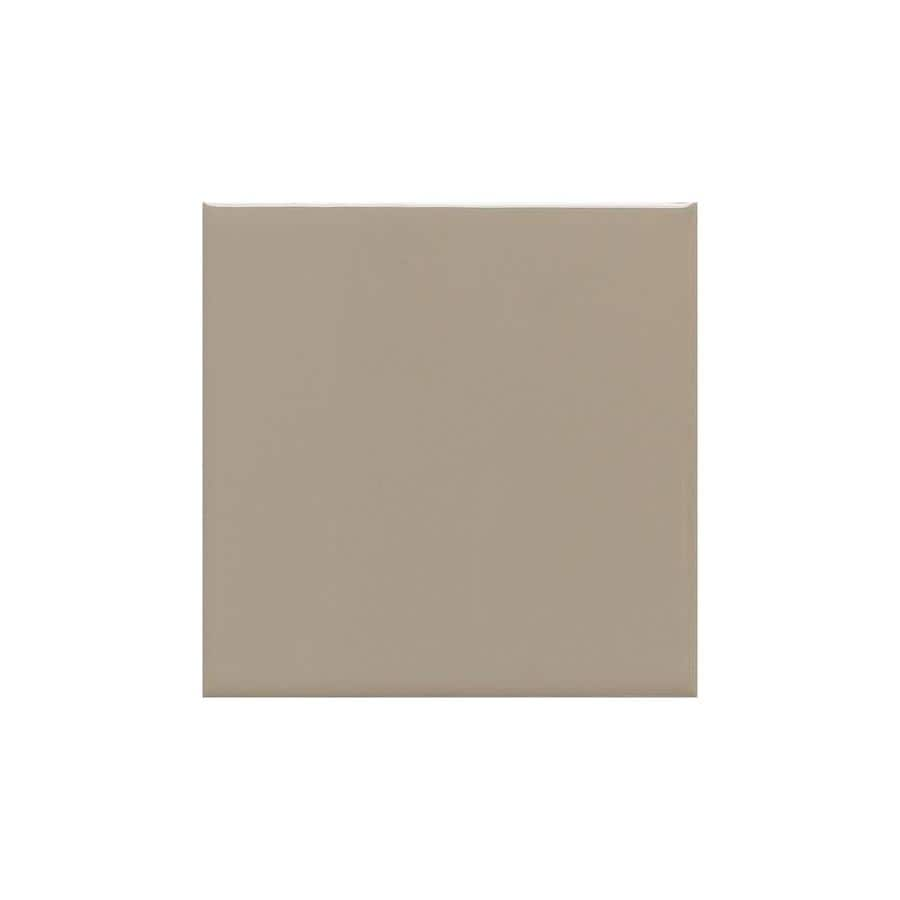 American Olean Bright Mushroom Gloss Ceramic Cove Base Tile (Common: 4-in x 4-in; Actual: 4.25-in x 4.25-in)
