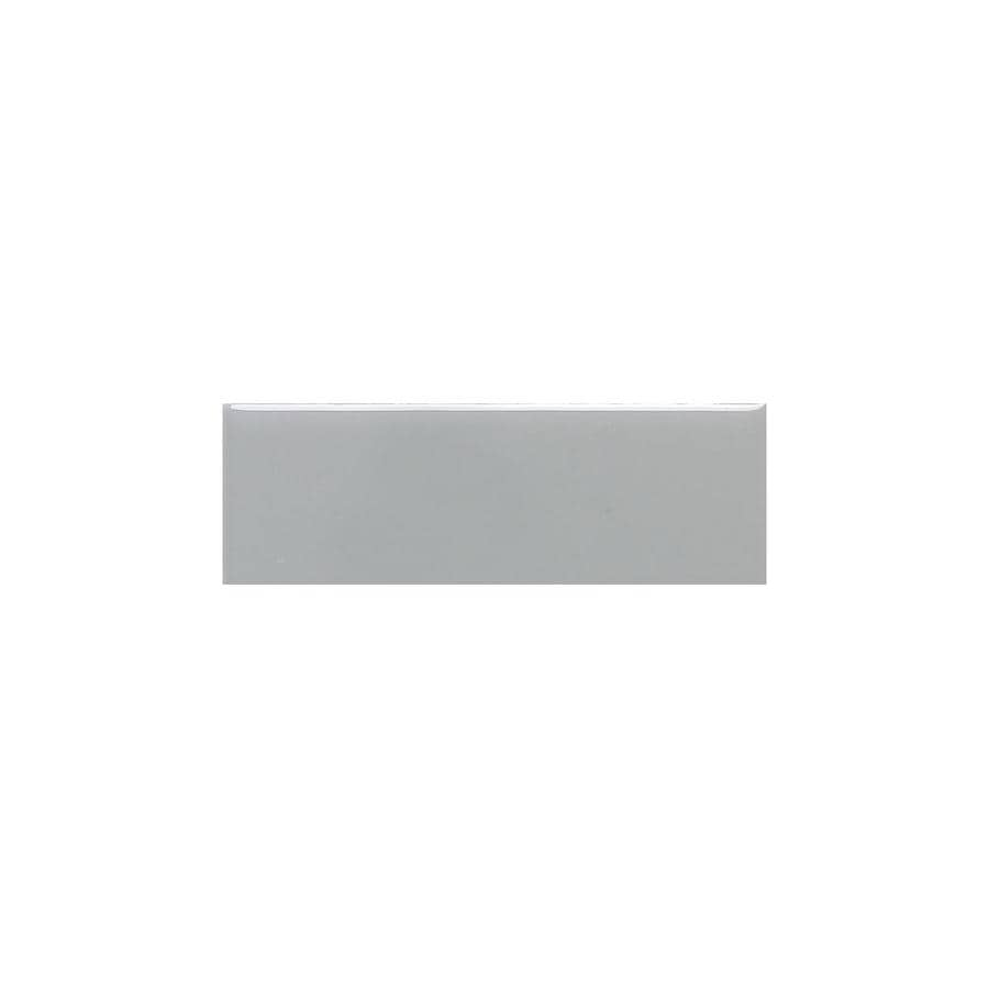 American Olean Bright Light Smoke Gloss Ceramic Mud Cap Tile (Common: 2-in x 6-in; Actual: 2-in x 6-in)