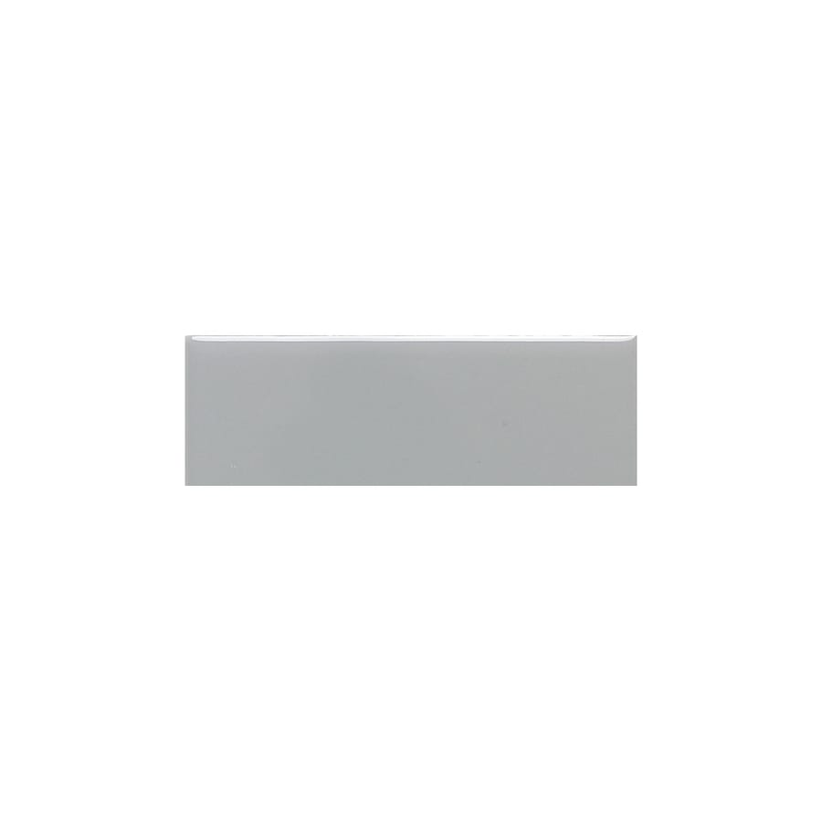 American Olean Bright Light Smoke Gloss Ceramic Bullnose Tile (Common: 2-in x 6-in; Actual: 2-in x 6-in)