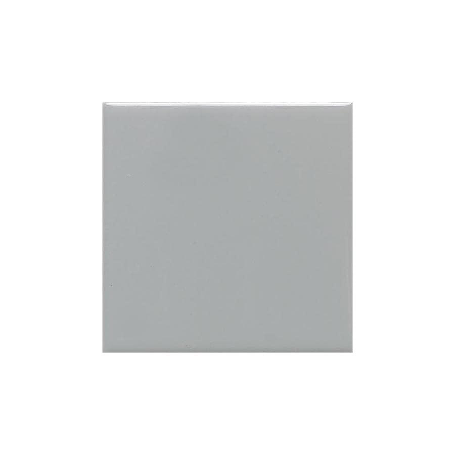 American Olean Matte Light Smoke Matte Ceramic Bullnose Tile (Common: 4-in x 4-in; Actual: 4.25-in x 4.25-in)