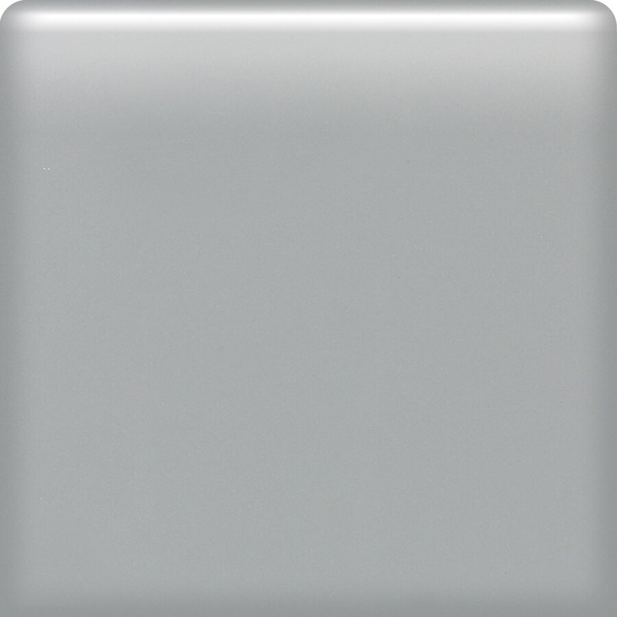 American Olean Matte Light Smoke Ceramic Bullnose Tile (Common: 6-in x 6-in; Actual: 6-in x 6-in)
