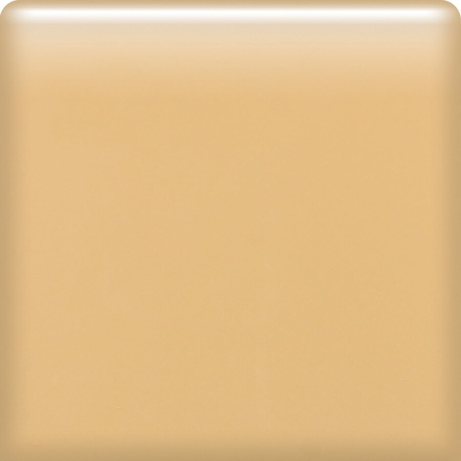 American Olean Bright Lemon Chiffon Ceramic Bullnose Tile (Common: 6-in x 6-in; Actual: 6-in x 6-in)