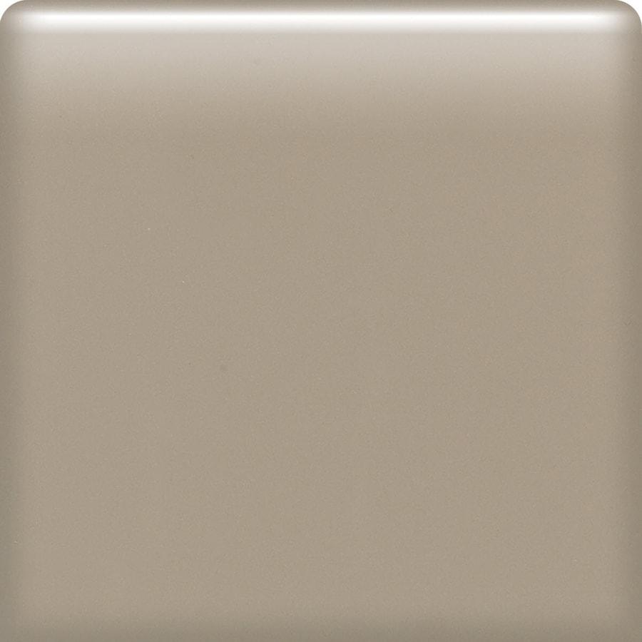 American Olean Bright Mushroom Ceramic Bullnose Tile (Common: 6-in x 6-in; Actual: 6-in x 6-in)