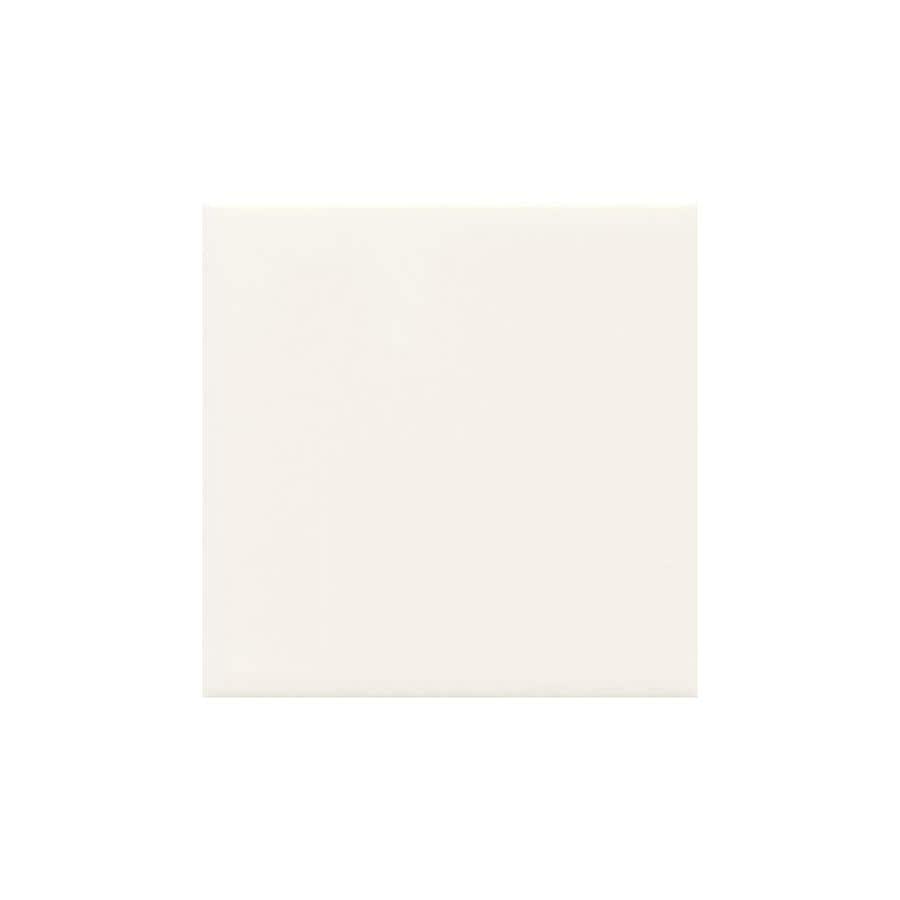 American Olean Bright White Gloss Ceramic Bullnose Tile (Common: 6-in x 6-in; Actual: 6-in x 6-in)