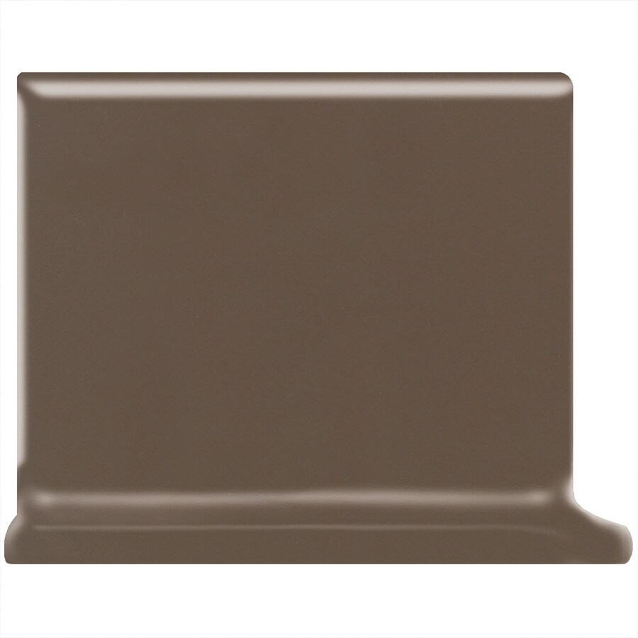 American Olean Matte Nutmeg Ceramic Cove Base Tile (Common: 4-in x 4-in; Actual: 4.25-in x 4.25-in)