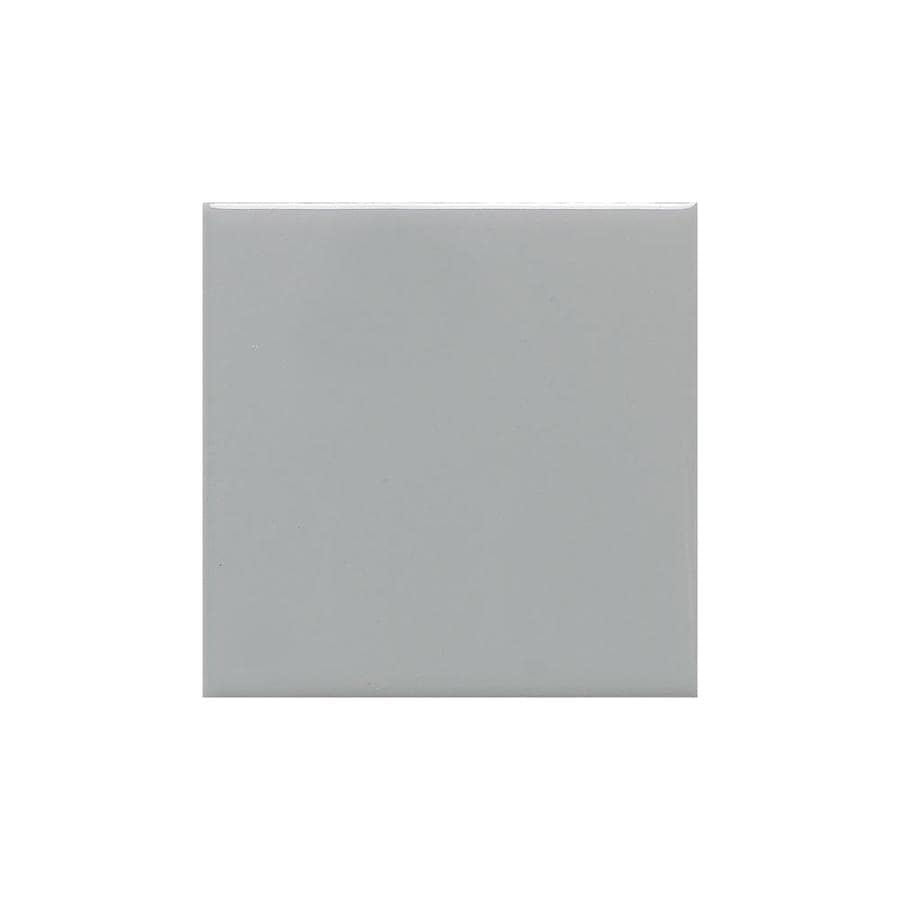 American Olean Bright Light Smoke Gloss Ceramic Cove Base Tile (Common: 4-in x 4-in; Actual: 4.25-in x 4.25-in)