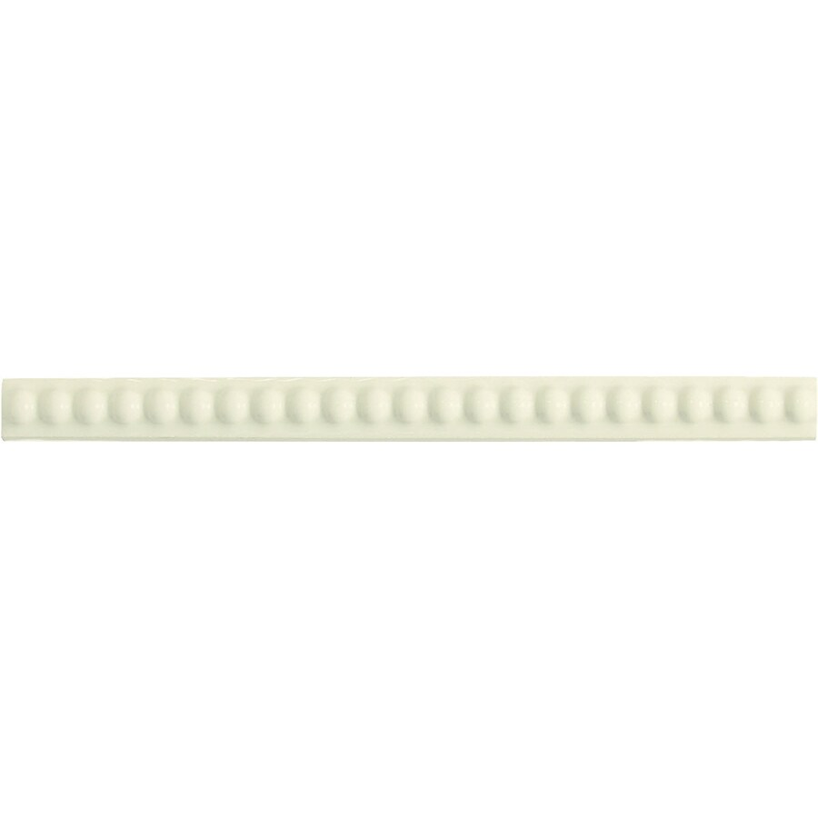 American Olean Linea Biscuit Ceramic Pencil Liner Tile (Common: 1/2-in x 8-1/2-in; Actual: 0.56-in x 8.5-in)