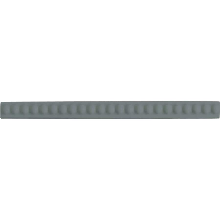 American Olean Linea Storm Gray Ceramic Pencil Liner Tile (Common: 1/2-in x 8-1/2-in; Actual: 0.56-in x 8.5-in)