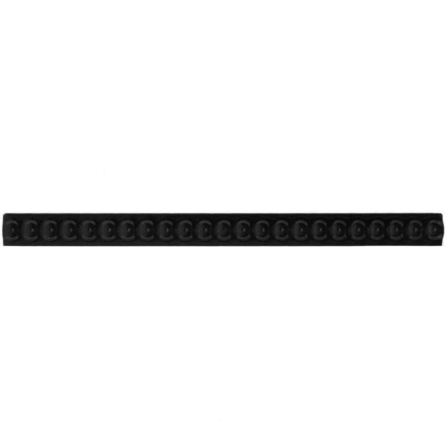 American Olean Linea Black Gloss Ceramic Pencil Liner Tile (Common: 1/2-in x 8-1/2-in; Actual: 0.5-in x 8.5-in)
