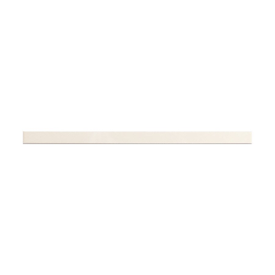 American Olean Linea Ice White Gloss Ceramic Pencil Liner Tile (Common: 1-1/2-in x 12-in; Actual: 0.75-in x 12.75-in)