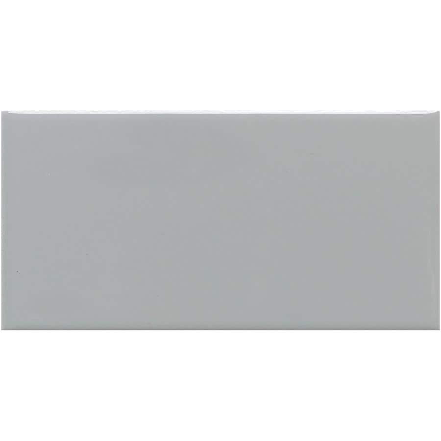 American Olean Urban Canvas 28-Pack Gloss Light Smoke Ceramic Wall Tile (Common: 4-in x 12-in; Actual: 4.25-in x 12.75-in)