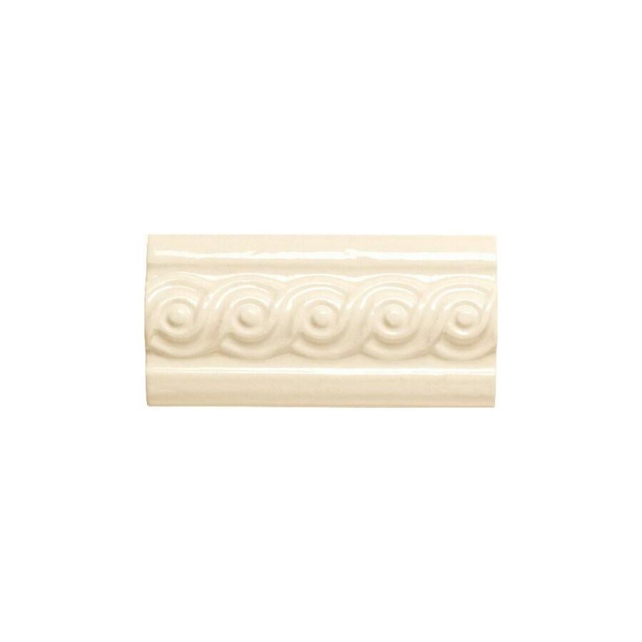American Olean Designer Elegance Biscuit Ceramic Listello Tile (Common: 3-in x 6-in; Actual: 3-in x 6-in)