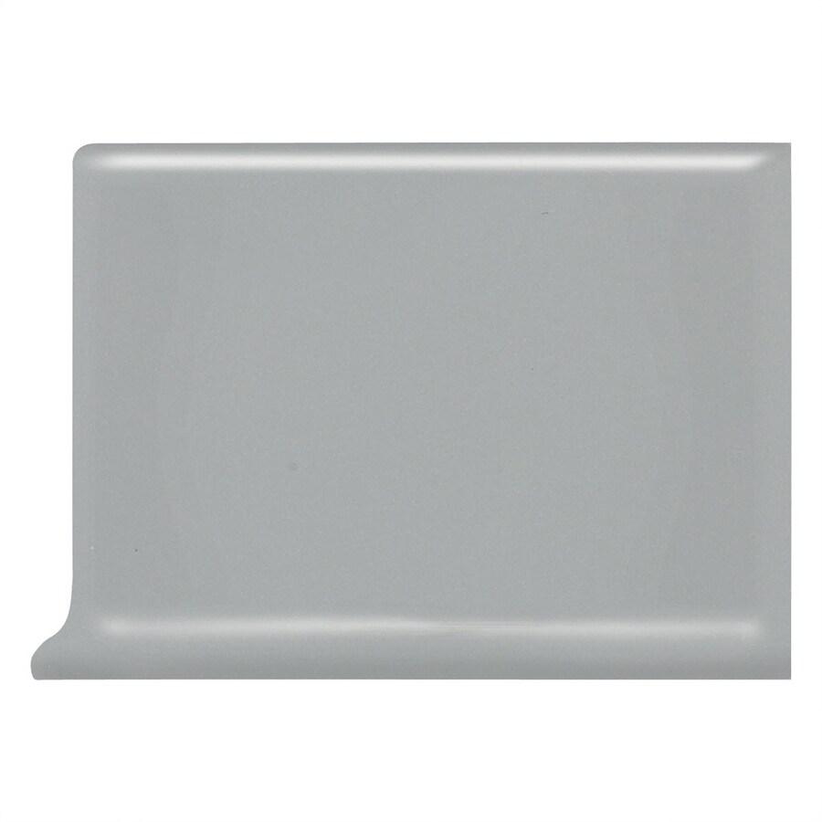 American Olean Bright Light Smoke Ceramic Cove Base Tile (Common: 4-in x 6-in; Actual: 4.25-in x 6-in)