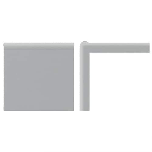 American Olean Matte Light Smoke Ceramic Mud Cap Tile