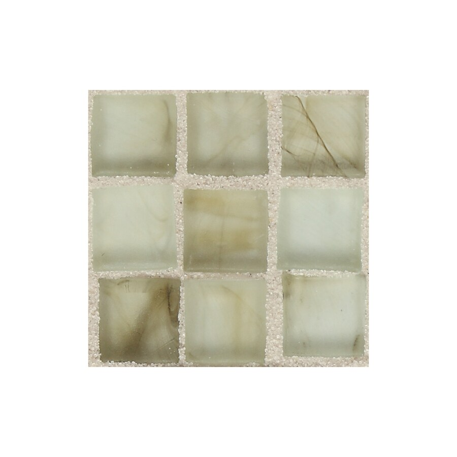 American Olean Visionaire Smokey Ballad Uniform Squares Mosaic Glass Wall Tile (Common: 13-in x 13-in; Actual: 12.87-in x 12.87-in)